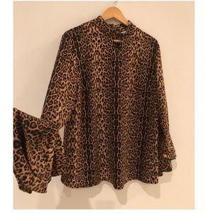 Peter Nygaard Leopard top size Large